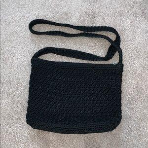 Lina Bags - Black crotchet crossbody purse
